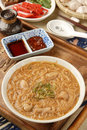 Pork intestine thin noodle Royalty Free Stock Photos
