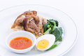 Pork Leg Stew with Rice (Kao Ka Moo) Royalty Free Stock Photo