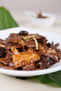 Pork liver and  bamboo shoots piece Royalty Free Stock Photo