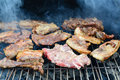 Pork meat barbecue grill Stock Photos