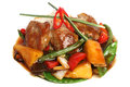 Pork meat with garnish gourmet food Royalty Free Stock Image