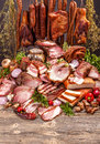 Pork meat products Royalty Free Stock Photo