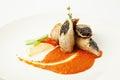 Pork Meat Rolls. Gourmet Restaurant Food Royalty Free Stock Photo