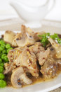 Pork Mushroom Stew Honey Mustard Sauce Stock Photography