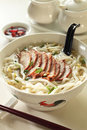 Pork noodle soup Royalty Free Stock Photos