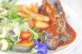 Pork rib barbecue or spare rib steak Royalty Free Stock Photo