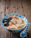 Pork ribs healthy food braised with herbs and shiitake Royalty Free Stock Images