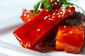 Pork Ribs in tomato and honey sauce Royalty Free Stock Photos