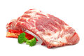 Pork ribs on white background Stock Photo