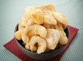 Pork rind scratchings crackling in thailand Stock Photography