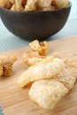 Pork rind scratchings crackling in thailand Stock Photo