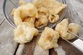 Pork rind scratchings crackling in thailand Royalty Free Stock Image