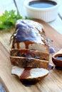 Pork Roast with Balsamic Glaze Royalty Free Stock Photo
