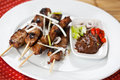 Pork satay Royalty Free Stock Photo