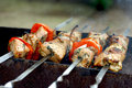 Pork shish kebab Royalty Free Stock Images