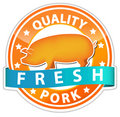 Pork sign Royalty Free Stock Images