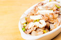 Pork sisig a popular delicacy in the philippines mixed inter organs with ears very Royalty Free Stock Photos