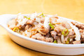 Pork sisig a popular delicacy in the philippines mixed inter organs with ears very Stock Image