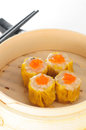 Pork siu mei dim sum w crab roe Royalty Free Stock Photo