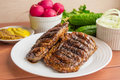 Pork steak, grilled Royalty Free Stock Photo