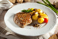 Pork Steak with Potato Royalty Free Stock Photo