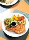 Pork Steak with Vegetables Stock Images
