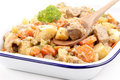 Pork stew with carrots and potatoes Stock Photo
