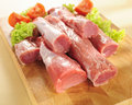 Pork tenderloin. Arrangement on a cutting board. Stock Image
