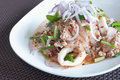 Pork with vermicelli and salad this menu is a combination of Stock Photos