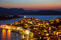 Poros at dusk Stock Images