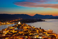 Poros at night Royalty Free Stock Photo