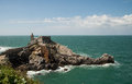 Porotvenere church san pietro of in portovenere gulf of poets Stock Photos