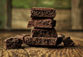 Porous chocolate blocks Royalty Free Stock Photography