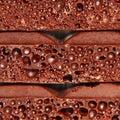 Porous chocolate pieces taken closeup as background Stock Images