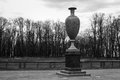 Porphyry vase in the summer garden in saint petersburg russia Royalty Free Stock Image