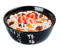 Porridge  in black dish Stock Images