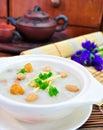Porridge, Porridge (congee) served in claypot Royalty Free Stock Photo