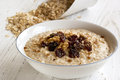 Porridge with Walnuts and Raisins Royalty Free Stock Photo