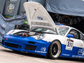Porsche 911 GT3 race car Stock Photo
