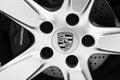 The Porsche logo Royalty Free Stock Photo