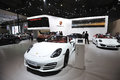 Porsche pavilion white boxster road to china s west th chengdu motor show august th september th Royalty Free Stock Photo