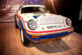 Porsche racing car on display Royalty Free Stock Photos