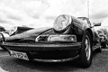 The porsche targa black and white t front view oldtimer tage berlin brandenburg may berlin germany Stock Photo
