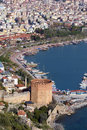 Port Alanya and tower Royalty Free Stock Image