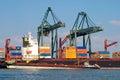 Port of Antwerp, Belgium Royalty Free Stock Photo