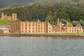 Port arthur view from the boat penitentiary is located in heart of historic site which until was a penal colony for prisoners site Stock Image