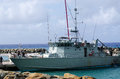 Port of avatiu island of rarotonga cook islands sep te kukupa patrol boat on sep it s one patrol boats built by australia and Royalty Free Stock Photography