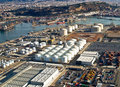 Port of Barcelona, Spain, aerial view Royalty Free Stock Photo