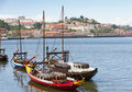 Port boats Oporto, Portugal Stock Photo