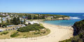 Port campbell great ocean road australia panorama view to victoria Royalty Free Stock Image